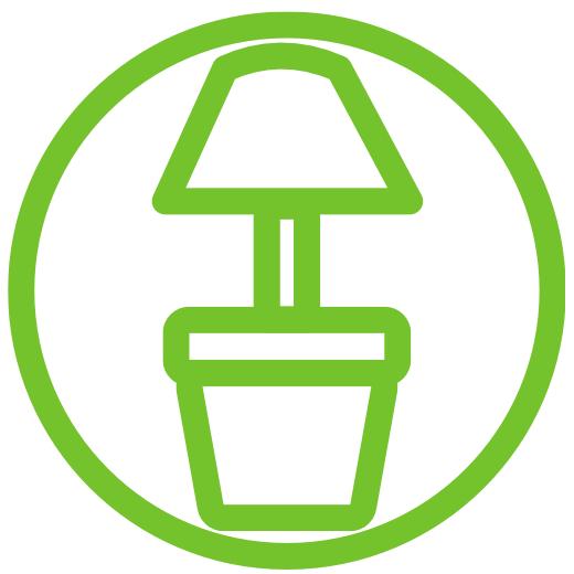 FAVI lamp en pot voor de tuin